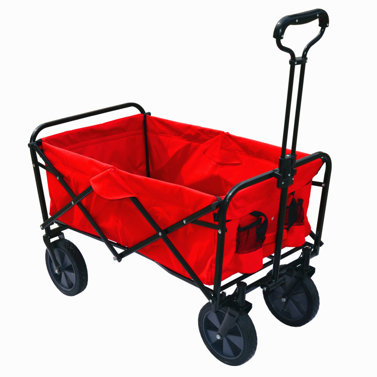 Collapsible outdoor utility folding wagon