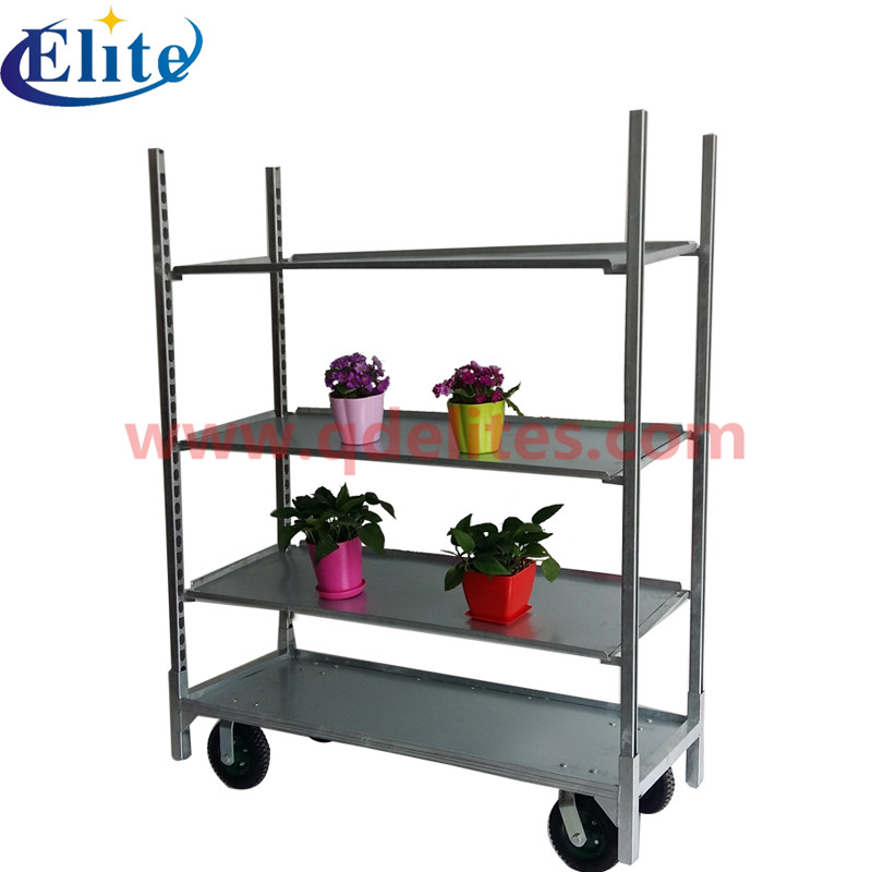 Metal sheet flower trolley