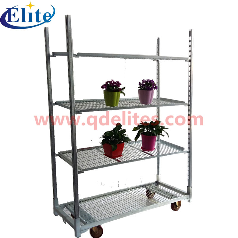 welding mesh flower cart