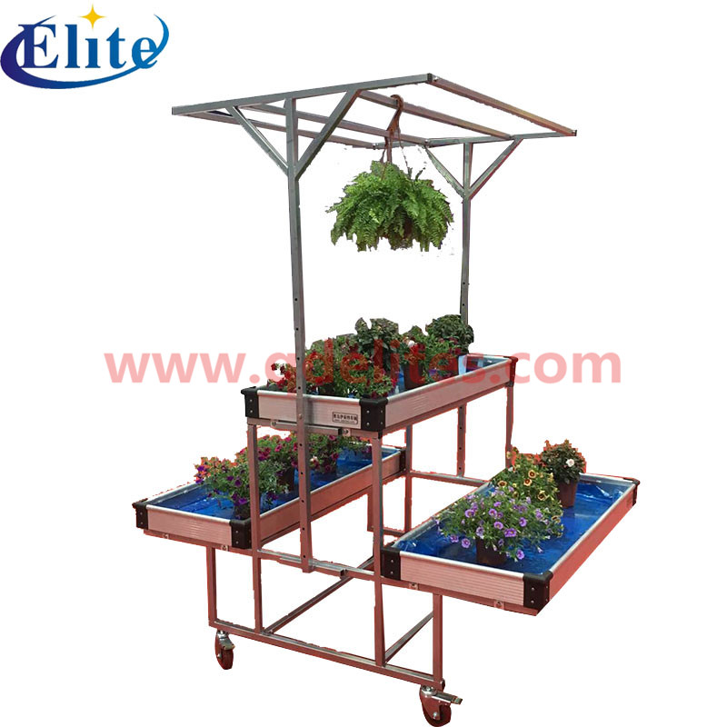 garden center flower rack trolley cart